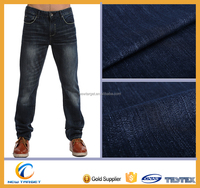 Polyester cotton chambray denim fabric for jeans
