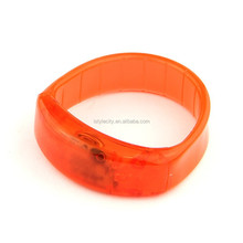 Plastic Sound Activated and Vibrating LED Glow in the Dark Bangle Bracelet