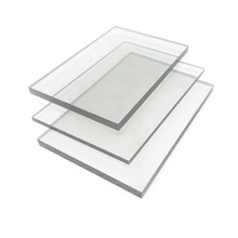 Waterproof cheap bathroom wall covering panels of transparent solid polycarbonate sheet