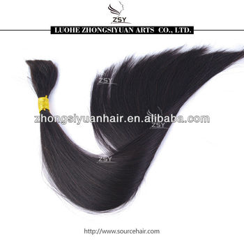 ZSY wholwsale cheapest hot selling 100% loose human hair bulk extension