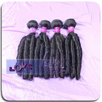 indian wholesale new disign texture three rollers candy curl hair