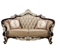 Luxury French Baroque Collection Royal Living Room Furniture/Exquisite Wooden Hand Carved american classic Sofa 1526