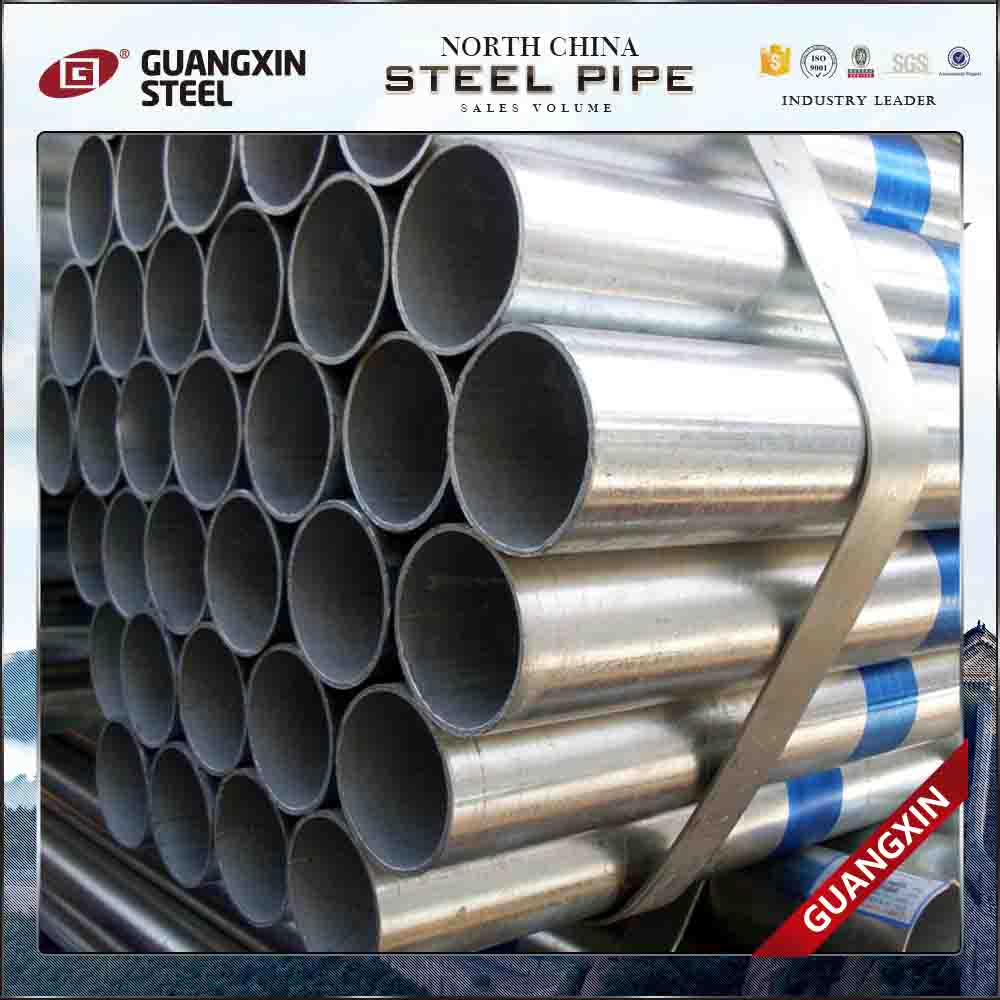 q235 ss400 threaded galvanized pipe 1/2inch national pipe thread