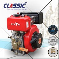 CLASSIC CHINA 13HP 5.7KW Light Weight Electric Starting Air Cooled Single Cylinder Small Diesel Engine 186FA For Sale