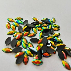 New style flat back resin rhinestones faceted AB colors rhinestones