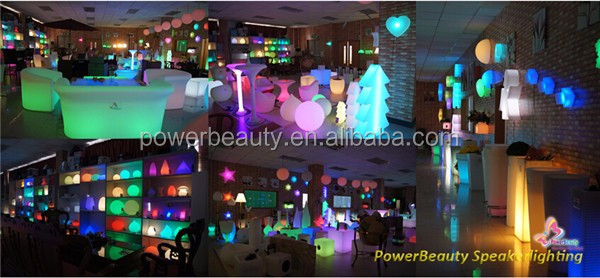 Modern design color changing waterproof led light flat ball led glow swimming pool ball for bar cafe garden pool home decoration