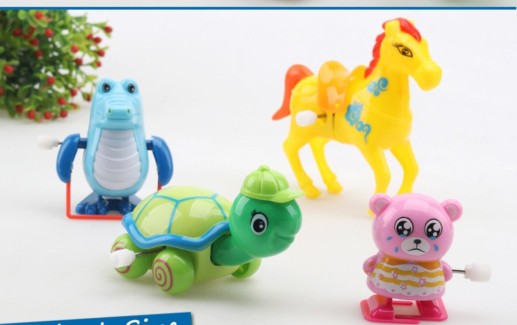 Small Plastic Animal Toys Wind up Turtles and Horse Toys