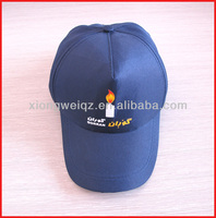 supply cheap polyester caps with candle printed