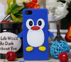 Hot new products for 2016 penguin design silicon rubber mobile phone case for iPhone 5 5S