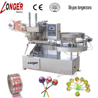 Round Lollipop Twist Packing Machine|Automatic Lollies Wrapping Machine