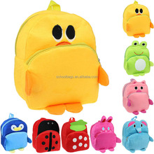lovely soft plush animal doll toy backpack for kids