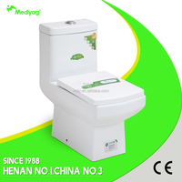 New square design wc! Henan factory ceramic white wash down p-trap 180mm one piece sanitary ware wc toilets bowls MLZ-20D