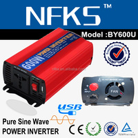 top supply 600w power inverter manufacturer 220v 12v USB port pure sine DC AC