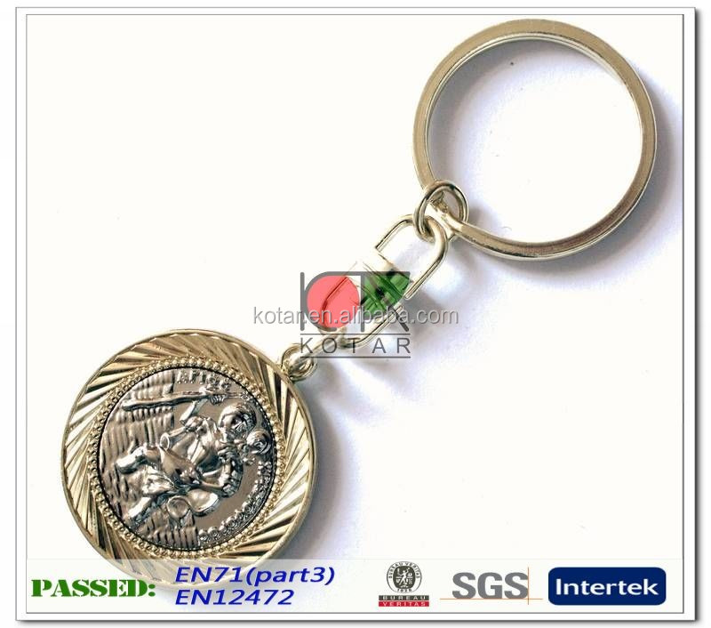custom antique plating military keychain for souvenir