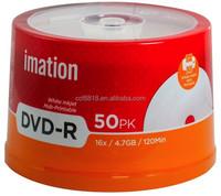 Imation A+ Printable DVD-R, blank dvd