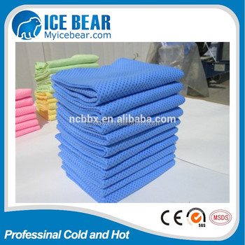 Quick Dry High Quality Blue PVA Cool Towel Ice Towel Customized logo Cooling Towel