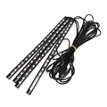 Universal 7 Colors Changed RGB LED Decoration Strip IR remote sound control Car Internal Interior Atmosphere Light