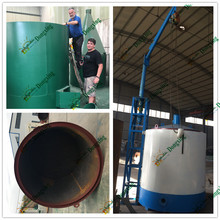hot-gas heating charcoal machine carbonized rice hull in Indonesia