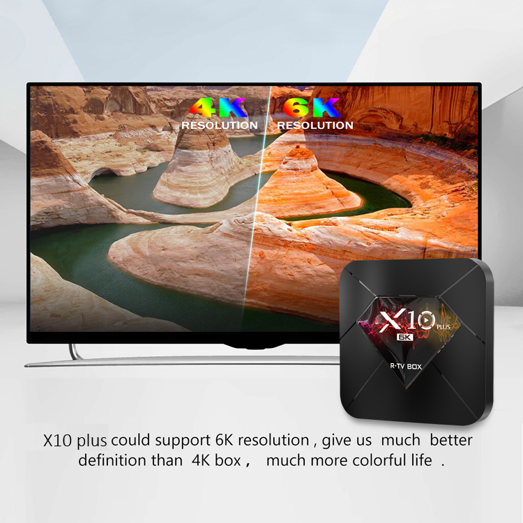 2019 Selling the best quality cost effective products tv box 4G 32G Android 9.0 Allwinner H6 R-TV BOX X10 PLUS