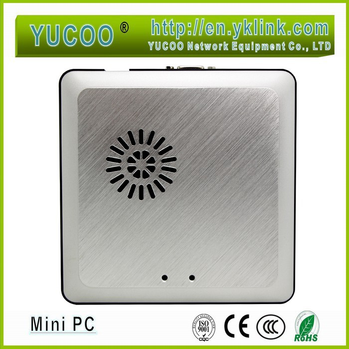 high compatibility linux mini pc Dual Core CPU 1.8Ghz 2GB RAM 8GB SSD Intel HD2500 17W slim pc