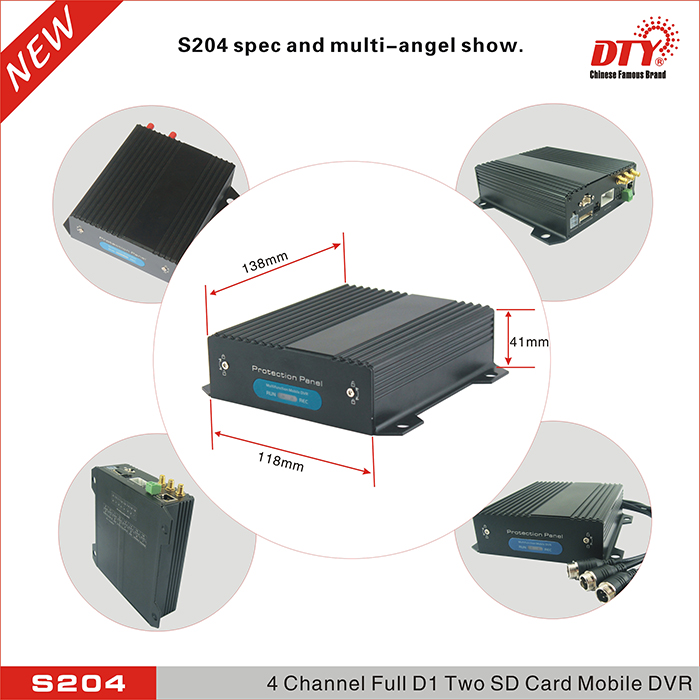 DTY WIFI OS Android mobile dvr car bus 4 channels mdvr from manufacturer