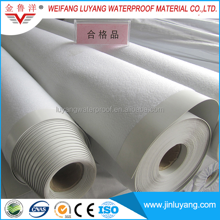 Factory Polyester Grid Reinforced Based Roofing PVC Waterproof Membrane