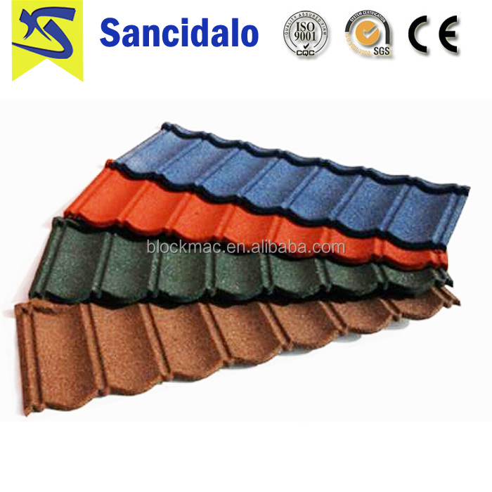 Professional Manufacturer kerala color stone coated metal roofing tile with 0.4mm thickness