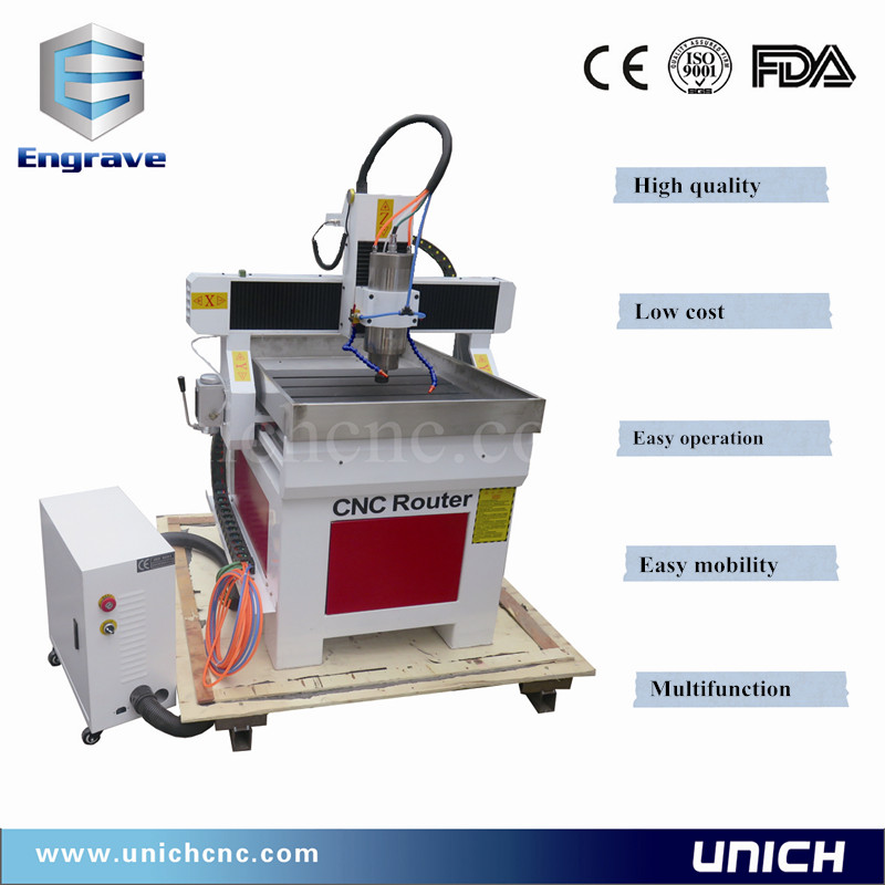 Good character easy mobility woodworking machine/cnc router 6090 cast steel frame