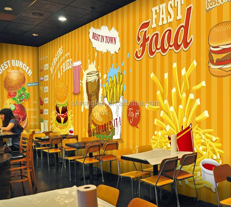 Modern Wall Decoration PVC Wall Paper Rolls Restaurant Wall Paper