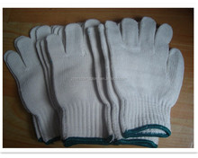 cheap white Cotton knitted gloves