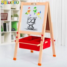 Mini wooden kids magic writing board with green color