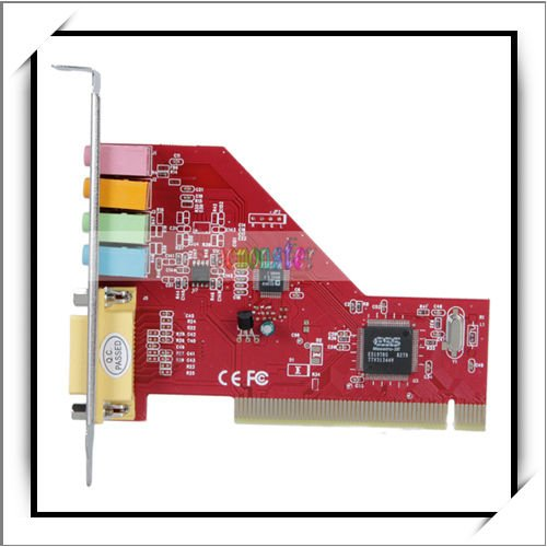 4 Channel 3D PC PCI Sound Audio Card w/Game MIDI Port