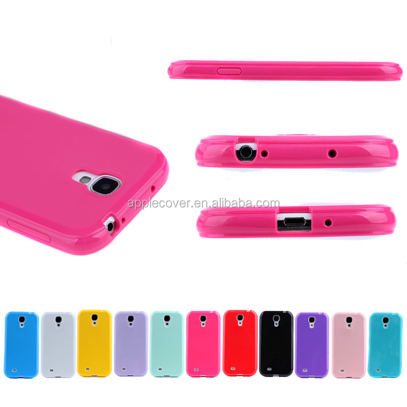 High Quality Shiny True Color Candy TPU case for Samsung S4 I9500, For Samsung Galaxy S4 cover case