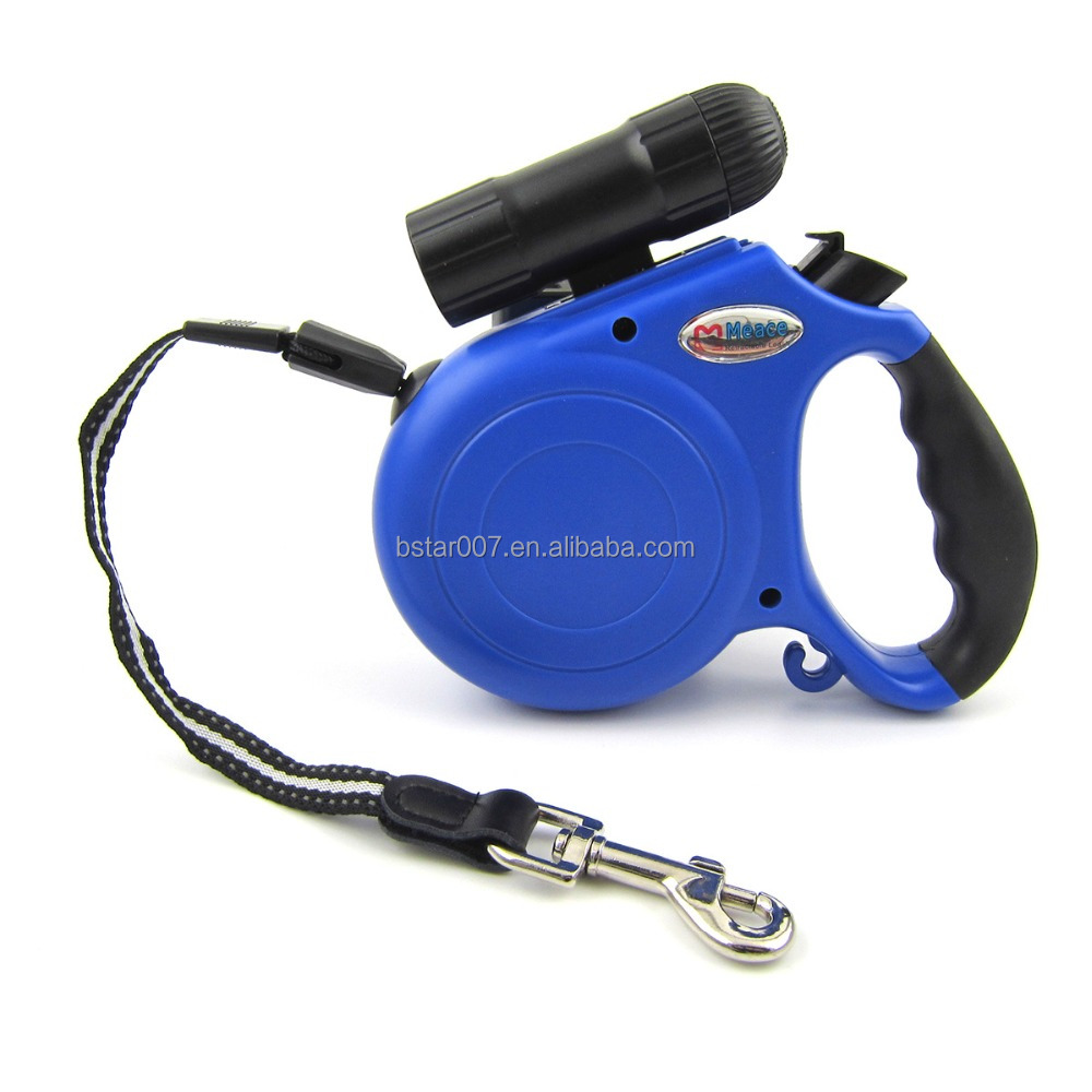 5 Meter Length Retractable Leashes Leads for Big Dog and Pet with Led Flashlight