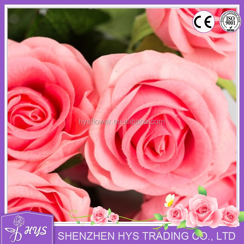 Decorative new design hot sale real touch artificial rose stem