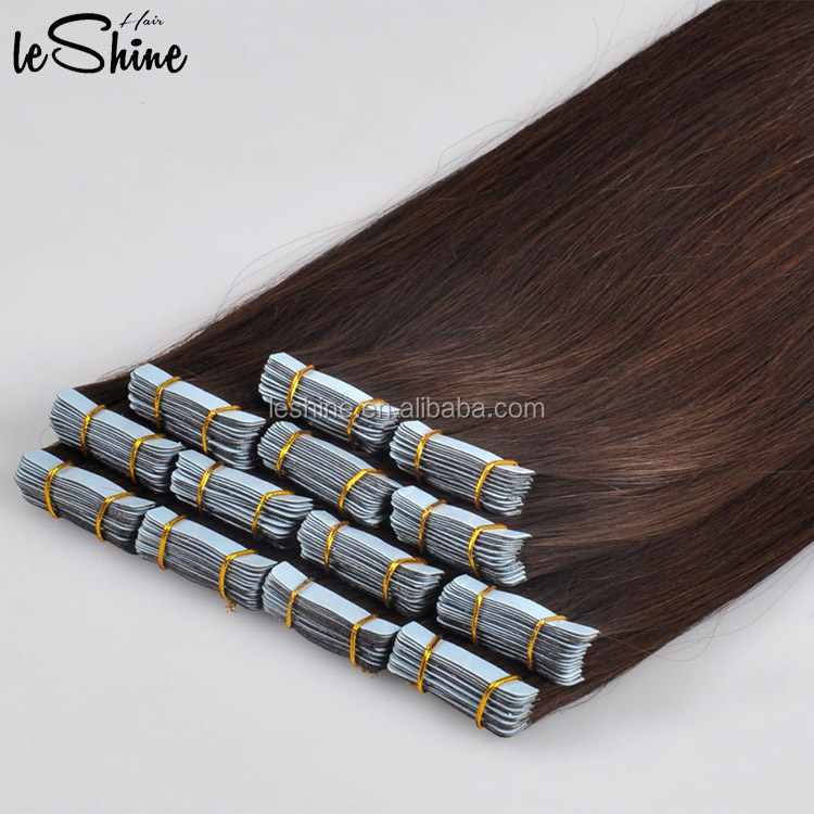 Alibaba Express Wholesale 100% Natural Human Hair Double Sided Tape Hair Extension