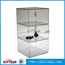 Supermarket, store use counter clear acrylic display box with lock