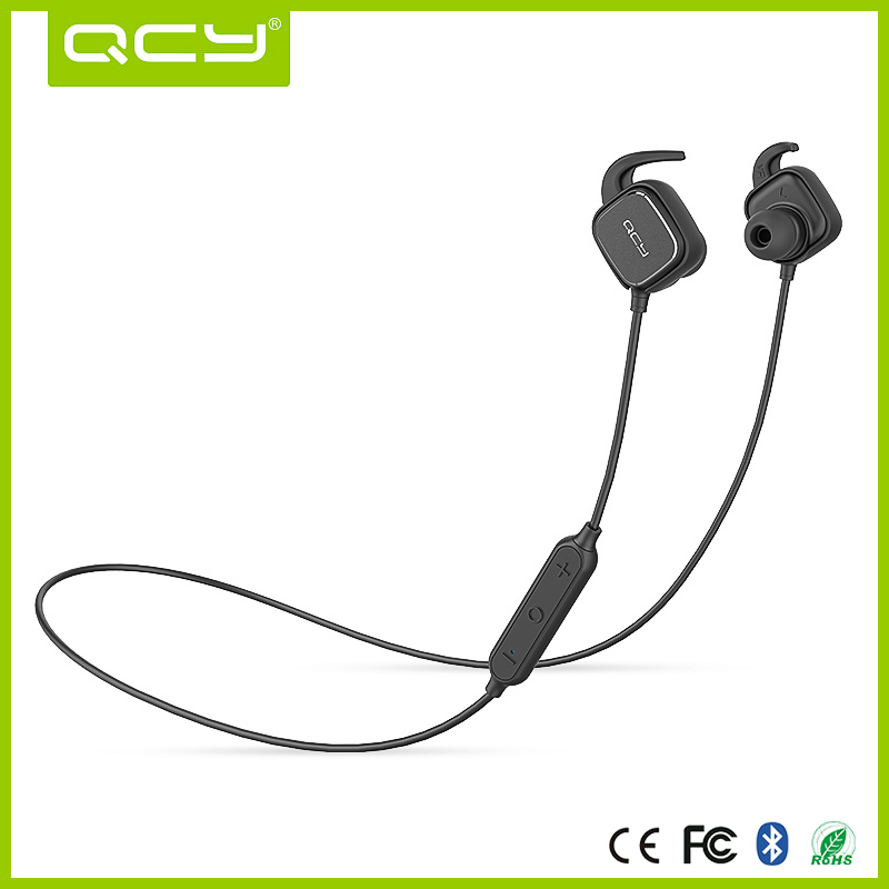 QY12 sport stereo bluetooth headphones , qcy bluetooth headset with magnetic function