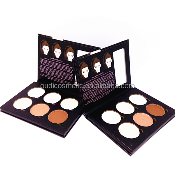 OEM 6 Color paper Concealer Makeup Palette c best cream concealer for your beauty face with your logo