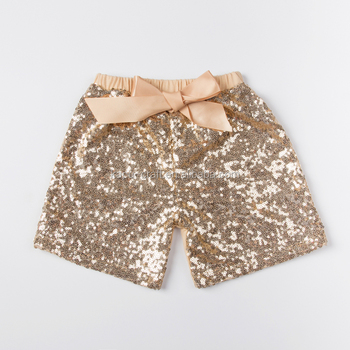 Latest style kids clothing baby clothes summer shiny baby girl sequin shorts sparkling shorts for newborn