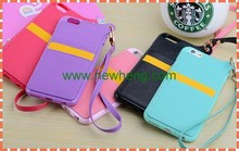 New Hang rope TPU Leather Case For iPhone 5 with Card Slot