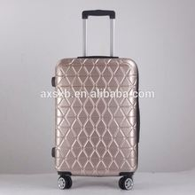 New product Elegant style personalized abs pc zipper travel trolley luggage case