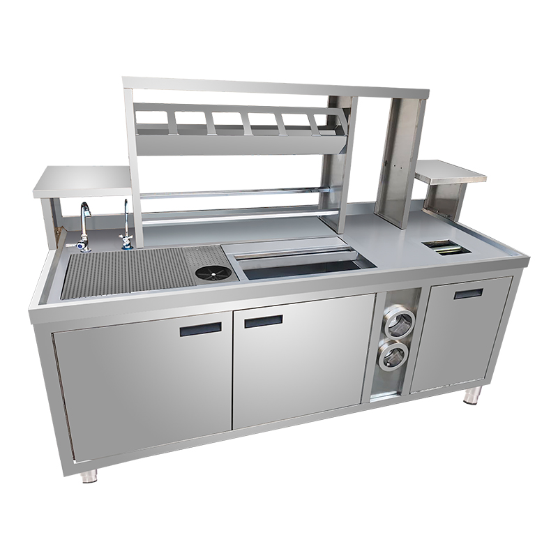 Commercial Restaurant used kitchen cabinets craigslist/factory price bar equipment design in Guangzhou
