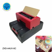 Used mobile/phone/plastic/CD covers printing machine a4 a3 a2 uv flatbed printer