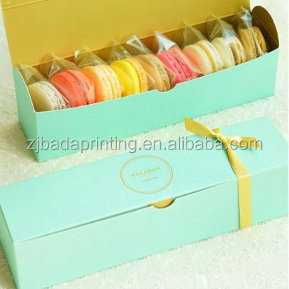 Biscuit Paper Box For Gift/Custom Gold Stamping Logo Food Packing Box