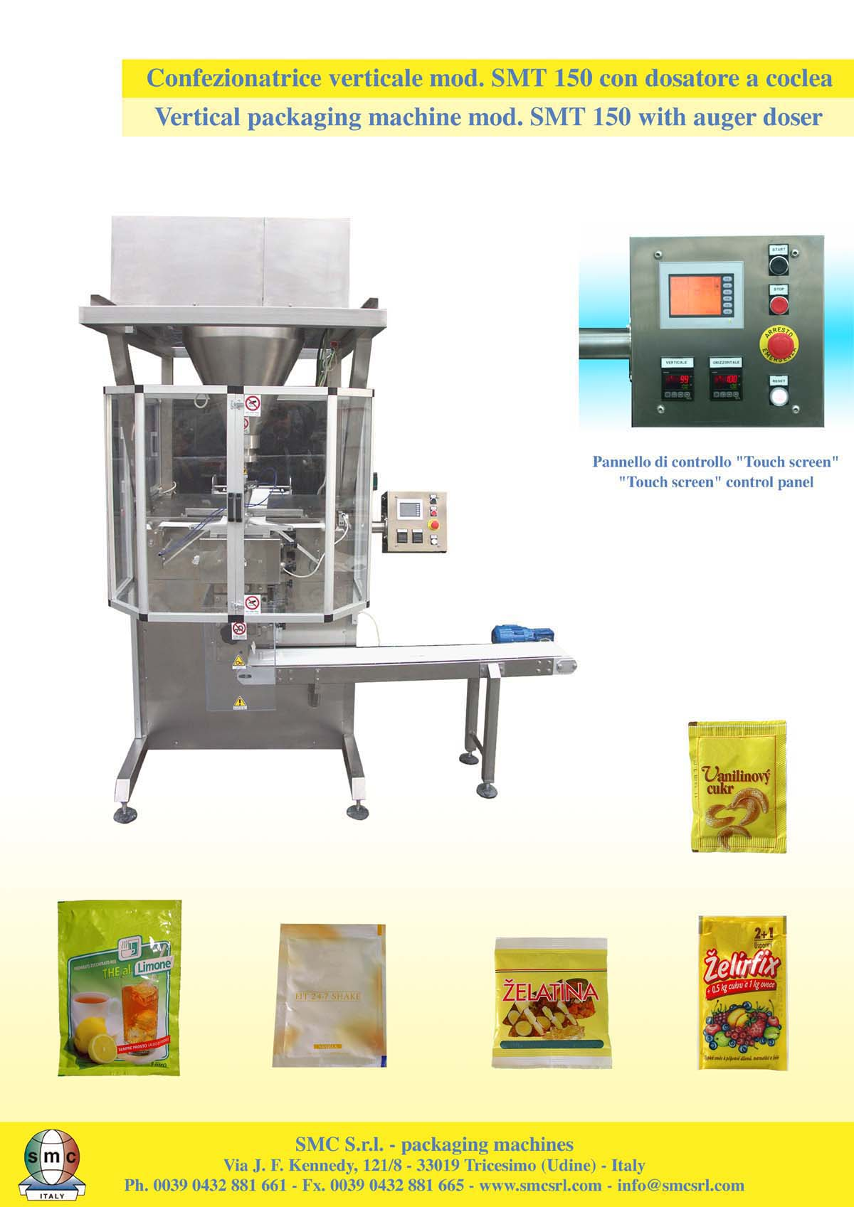 Smt With Auger New Smc Packaging Machine