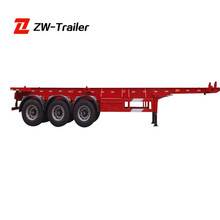 Customized ZW Brand Cheap Good Quality 60Ton Flat Deck Truck Semi Trailer For Sale