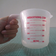 500ml 1 pint plastic measuring graduated cup with handle