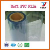 Anti-static plastic soft PVC film transparent PVC sheet in roll for packaging