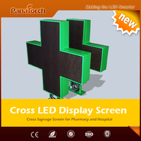 PanaTorch Alibaba hot supplier Led Cross Display Screen IP65 Waterproof P10RG high refresh rate For medical center